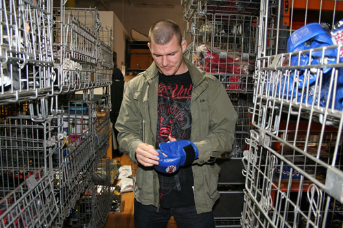 Mike Bisping at the Fightshop warehouse