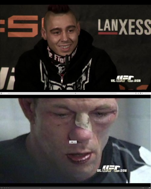 Dan Hardy and Marcus Davies post fight - UFC 99