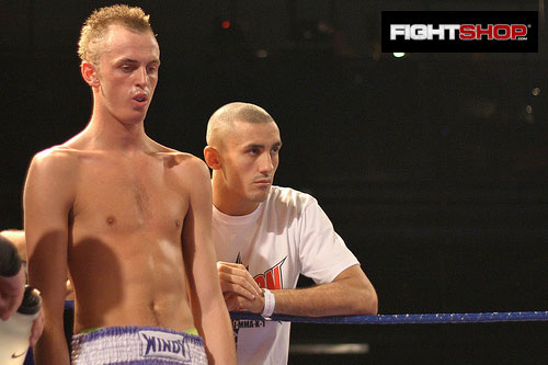 Terry Etim cornering at the FIGHTSHOP sponsored Rumble at The Reebok