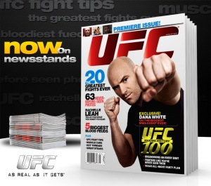 Dana White - Cover Model of The New UFC Magazine